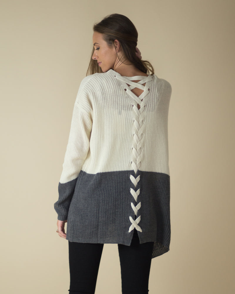 Split Decision Criss-Cross Cardigan