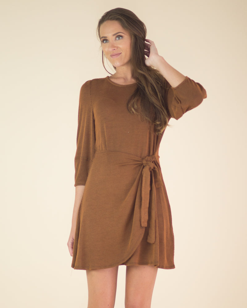 Mallory Tie Front Wrap Dress