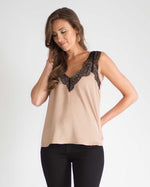 Satin Lace Detail Top