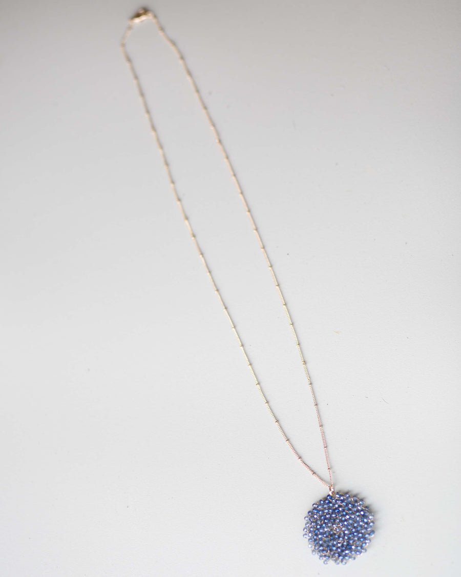 Beaded Swirl Pattern Necklace
