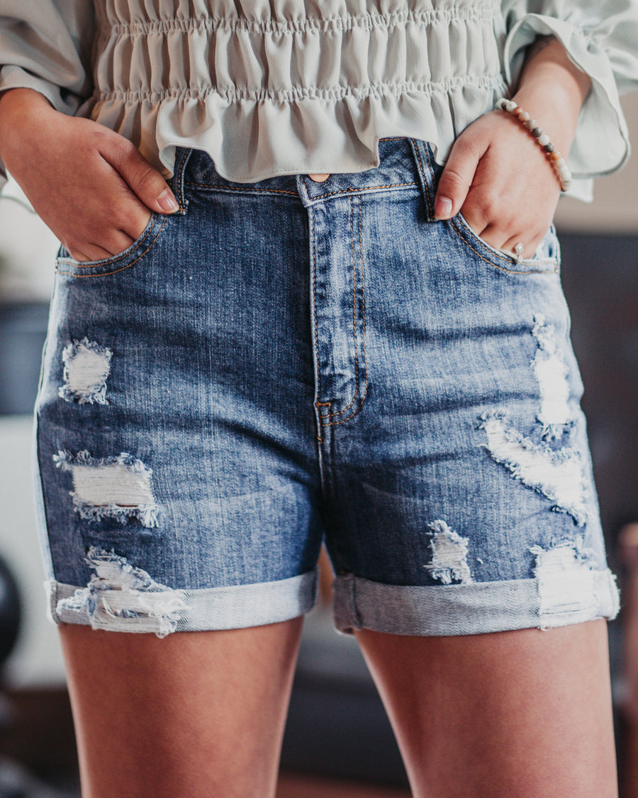 Angie Distressed Shorts
