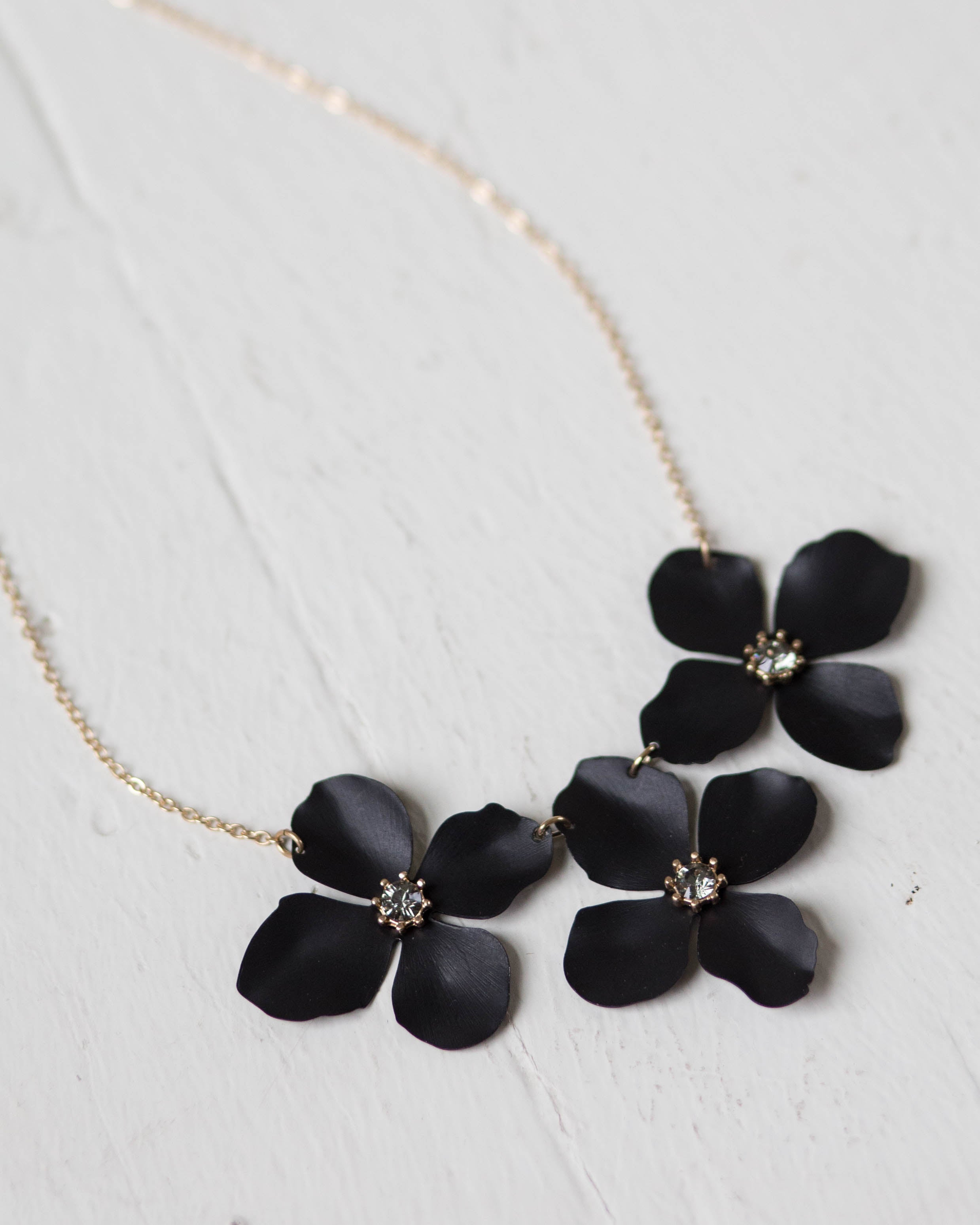 Trio Bloom Necklace | Rose & Remington