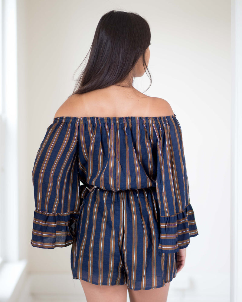 Marlena Bell Sleeve Romper | Rose & Remington