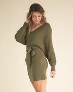 Julie Belted Sweater Dress