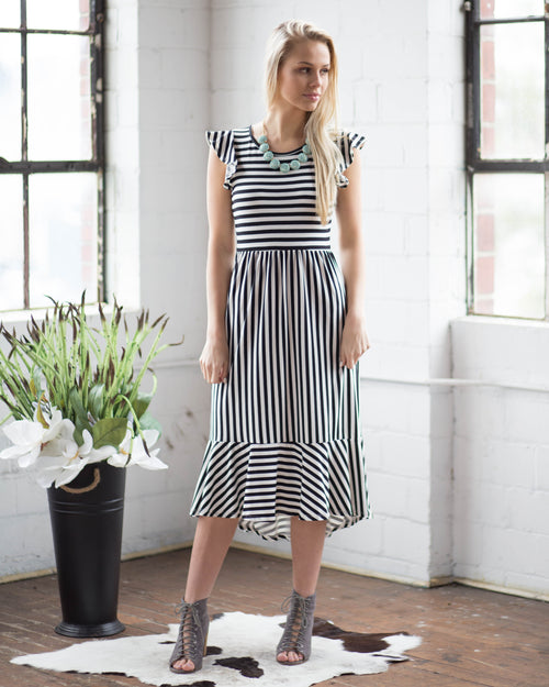 Darling Striped Dress | Rose & Remington