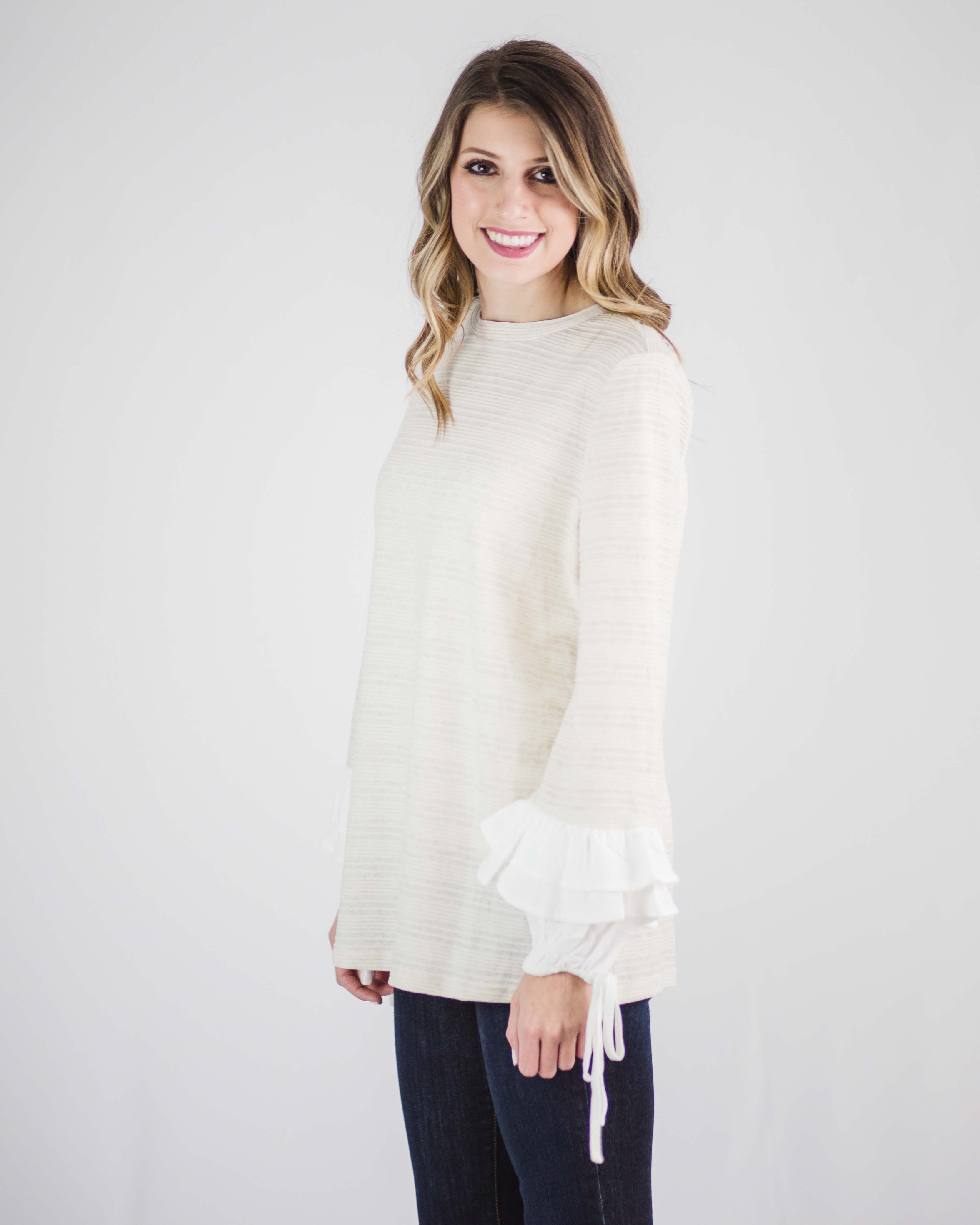 Lillian Ruffled Sleeve Top