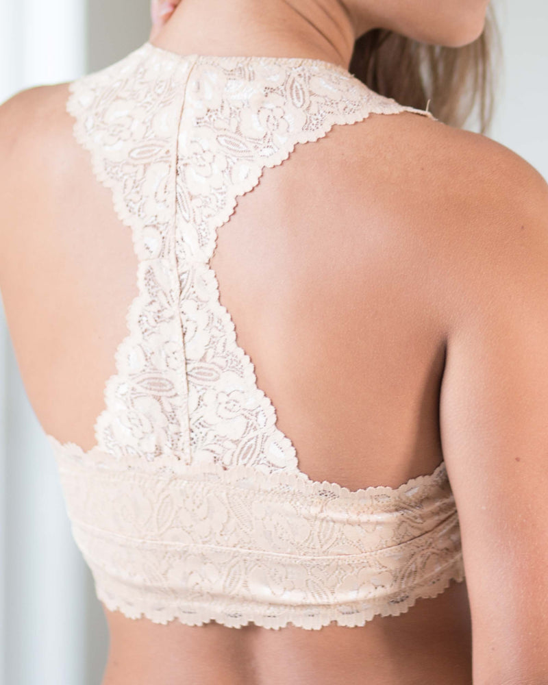 Hourglass Back Lacey Bralette | Rose & Remington