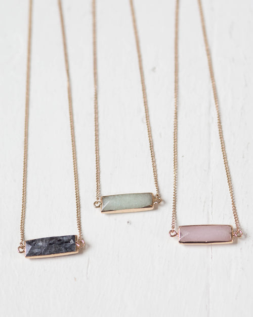 Exquisite Stone Bar Necklace | Rose & Remington