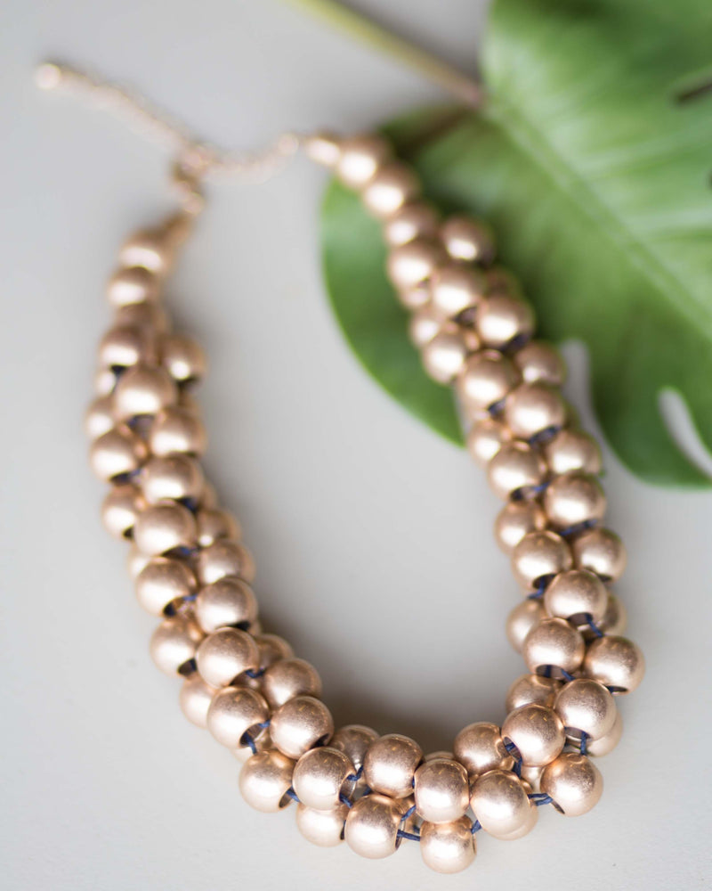 Metal Ball Cluster Necklace