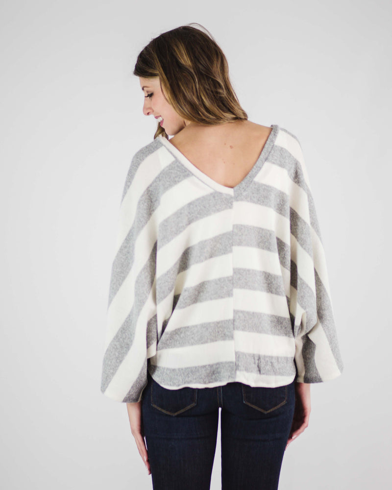 Olivia Soft Knit Bell Sleeve Top