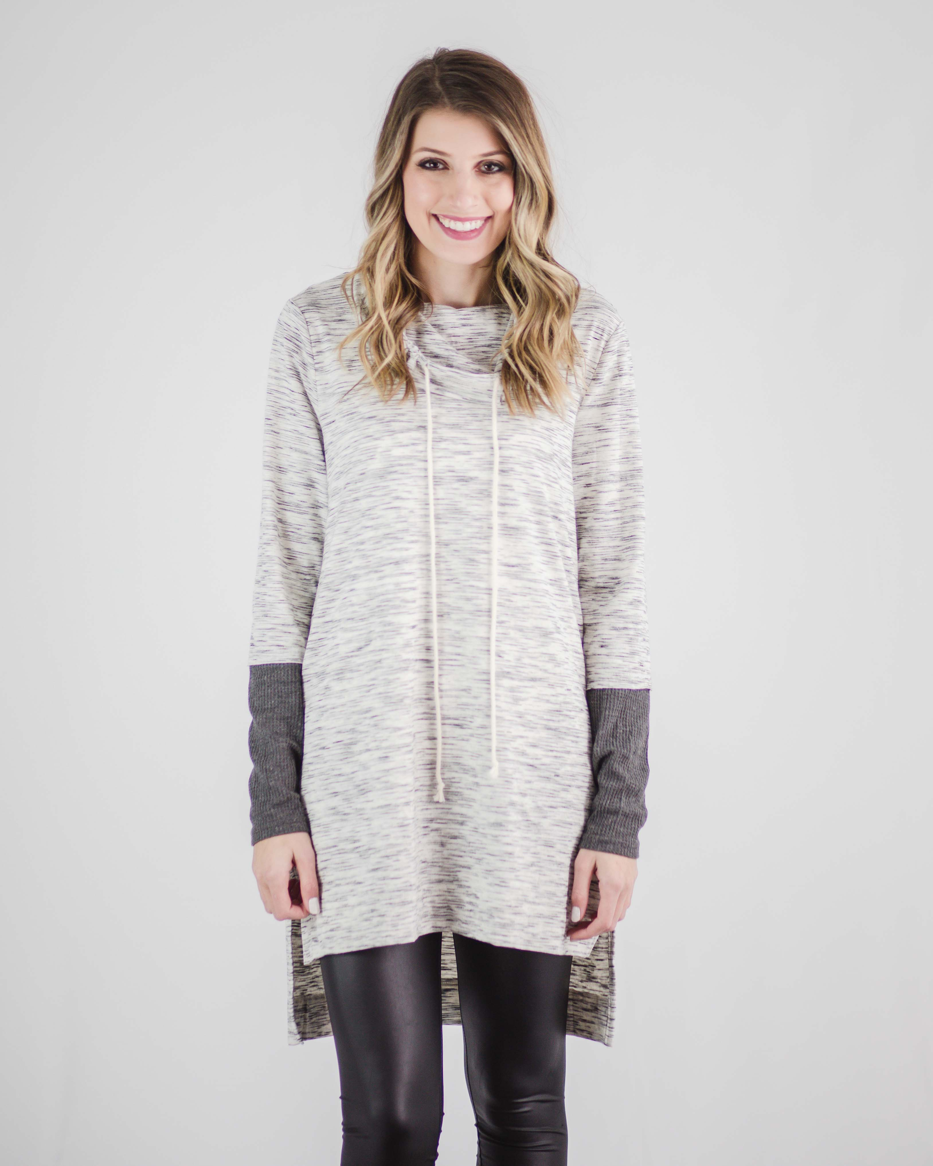 Riley Pocketed Turtleneck Tunic