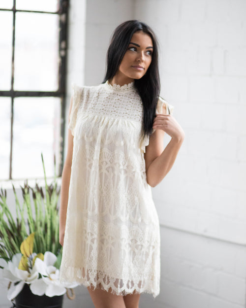 Ivory Lace Dress | Rose & Remington