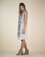 Jenna Mock Neck Snake Print Dress