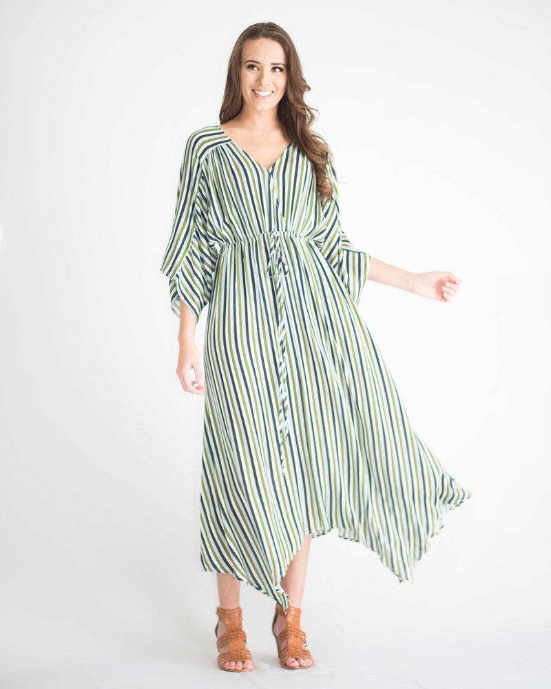 Adalynn Striped Kimono Dress