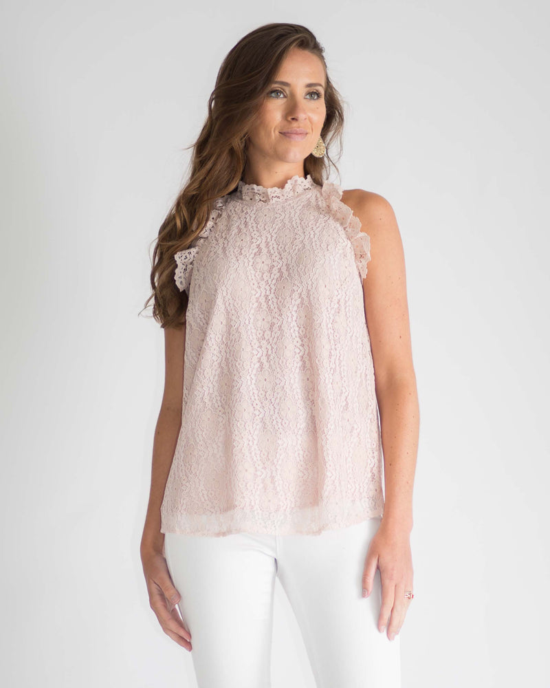Rory Lace Keyhole Top