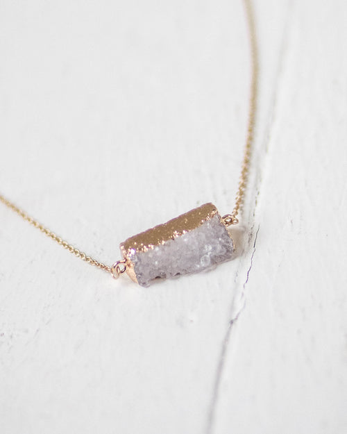 Boho Geo Stone Necklace | Rose & Remington