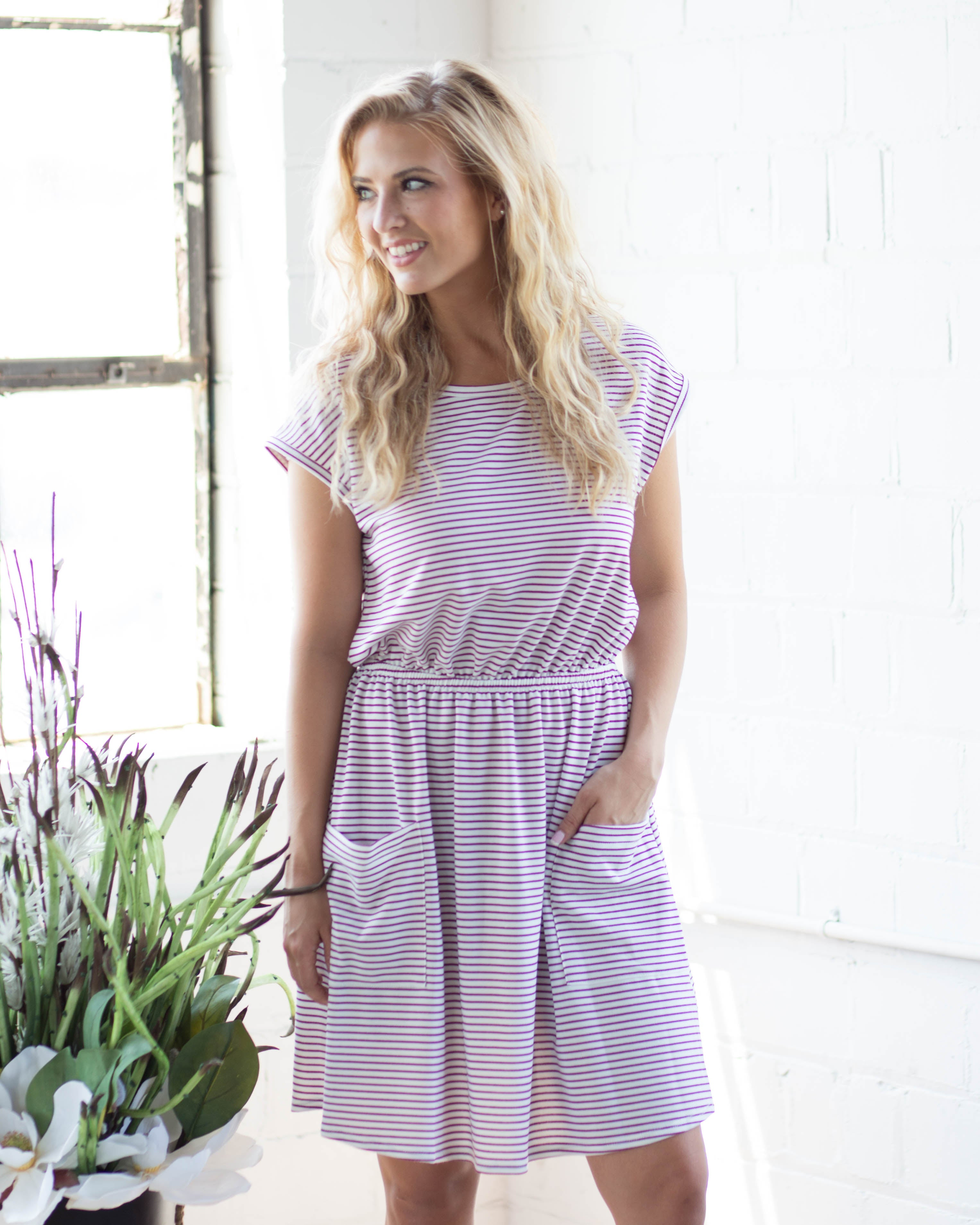Ella Striped Pocket Dress | Rose & Remington
