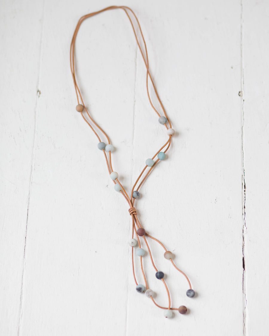 Mint Beaded Pullover Necklace | Rose & Remington