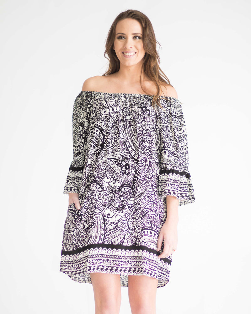 Paris Paisley Pocketed Dress