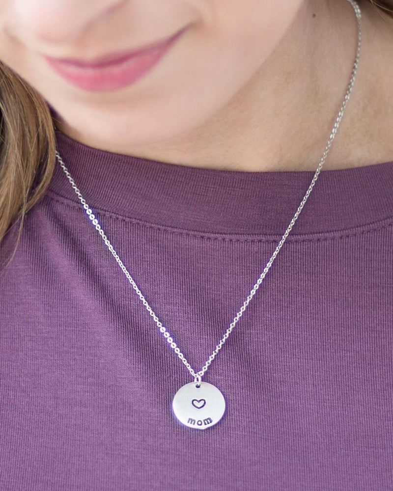 "Simple Circle ""Mom"" Necklace"