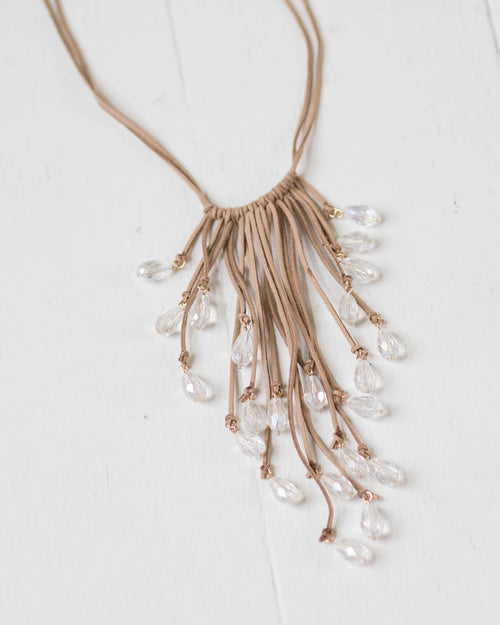Suede Rainfall Necklace | Rose & Remington