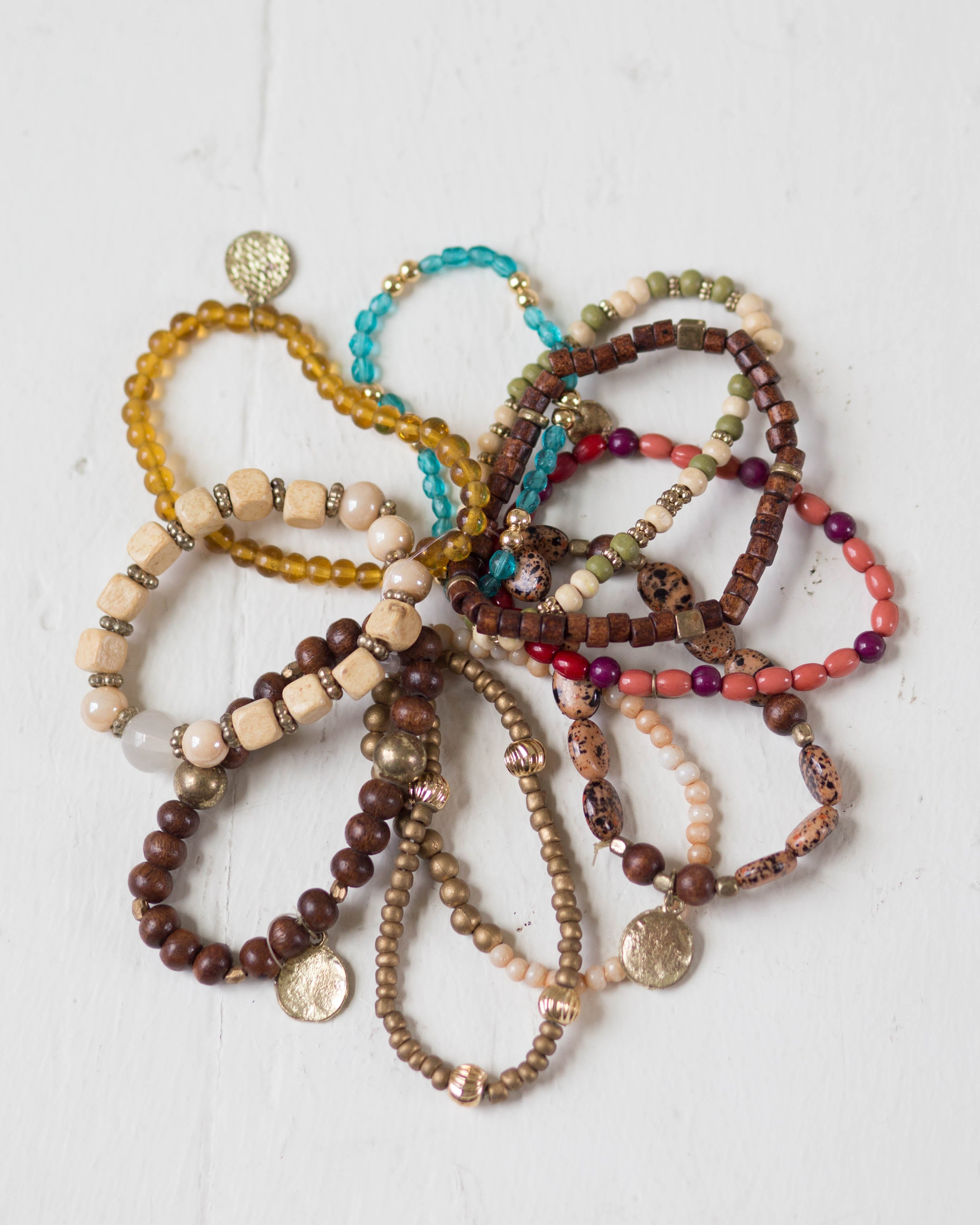 Multicolor Mix Bead Bracelet Set | Rose & Remington