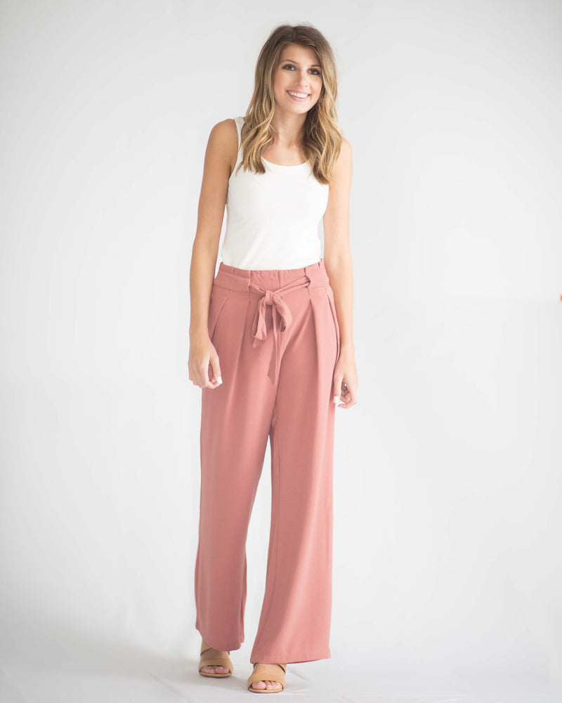 Delilah Belted Woven Pants