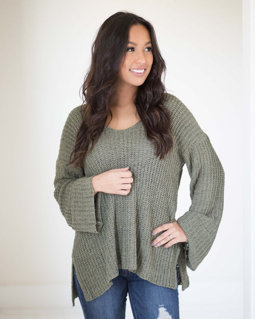 Brandy Bell Sleeve Sweater | Rose & Remington