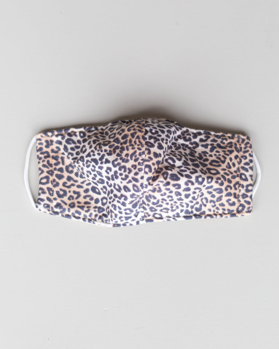 Three Layer Face Mask- Leopard