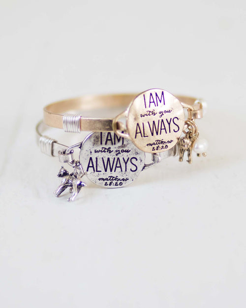 """I'm Always With You"" Charm Bracelet 