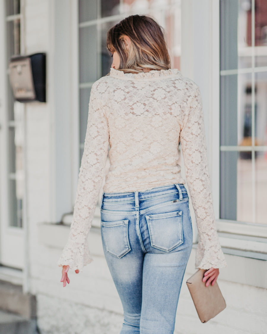 Kendra Bell Sleeve Lace Top