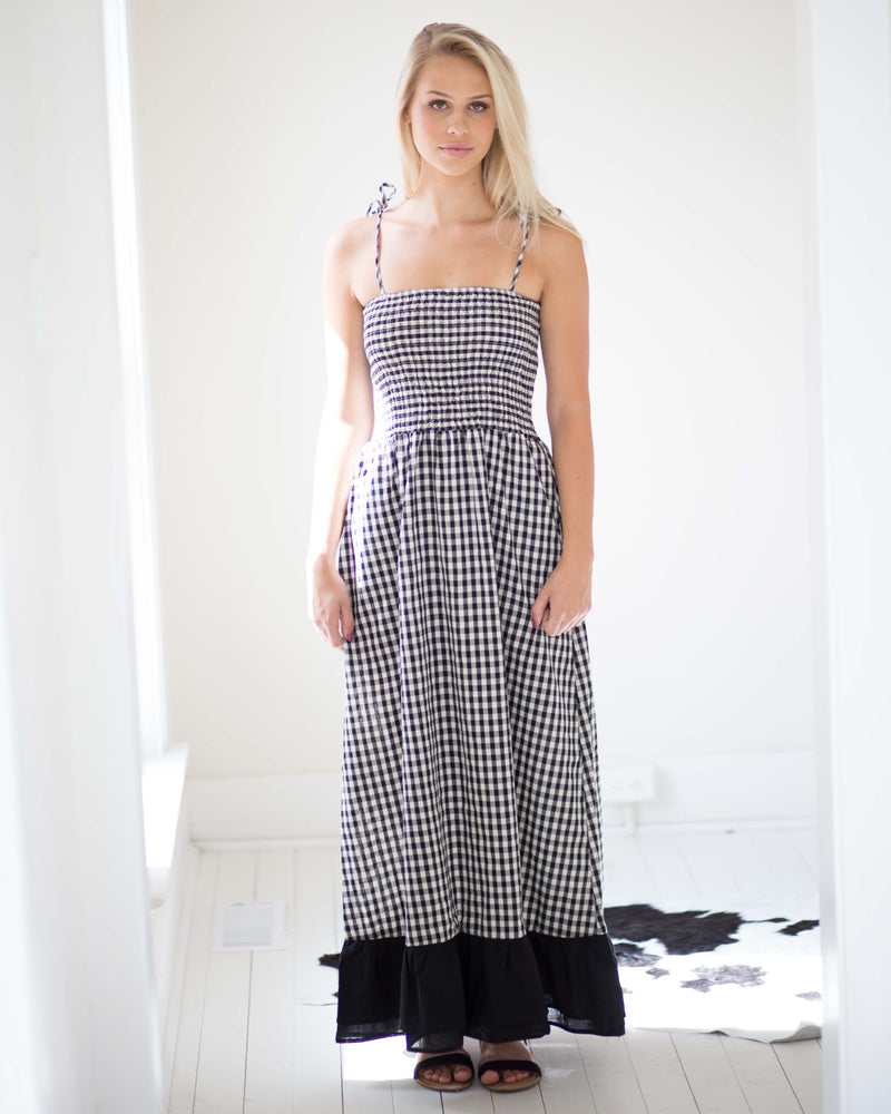 Smock Top Gingham Sundress | Rose & Remington