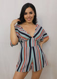 ellison striped romper