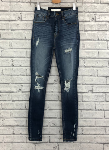 eunina bella super high rise skinny jeans