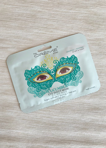 cucumber eye sheet mask