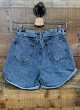 High waisted mom denim shorts
