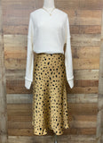 Animal Print Satin Skirt