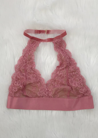 london velvet neck bralette