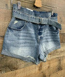 Eunina medium wash denim shorts vintage