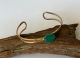 Emerald color bangle bracelet