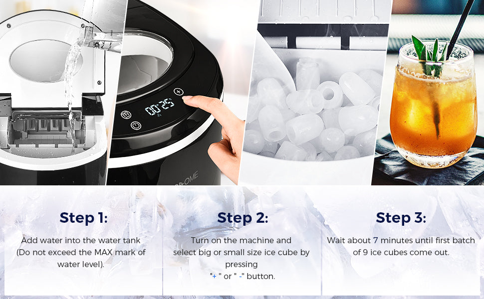 how to use the ice cube maker