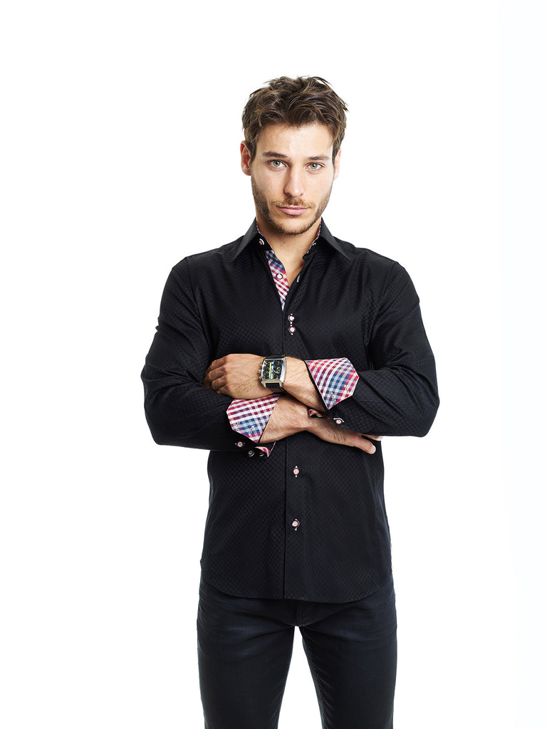 MACEOO BRAX BLACK Shirt - Slim  - 1