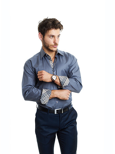 Maceoo Brax Grey Shirt - Slim