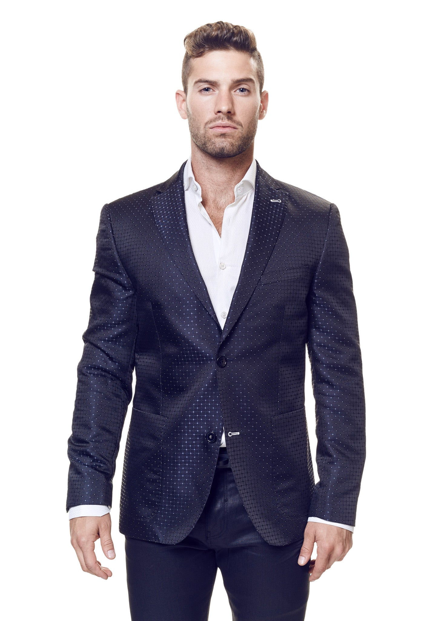 Blazer Checkmate 1 Navy White Dot - Slim  - 2