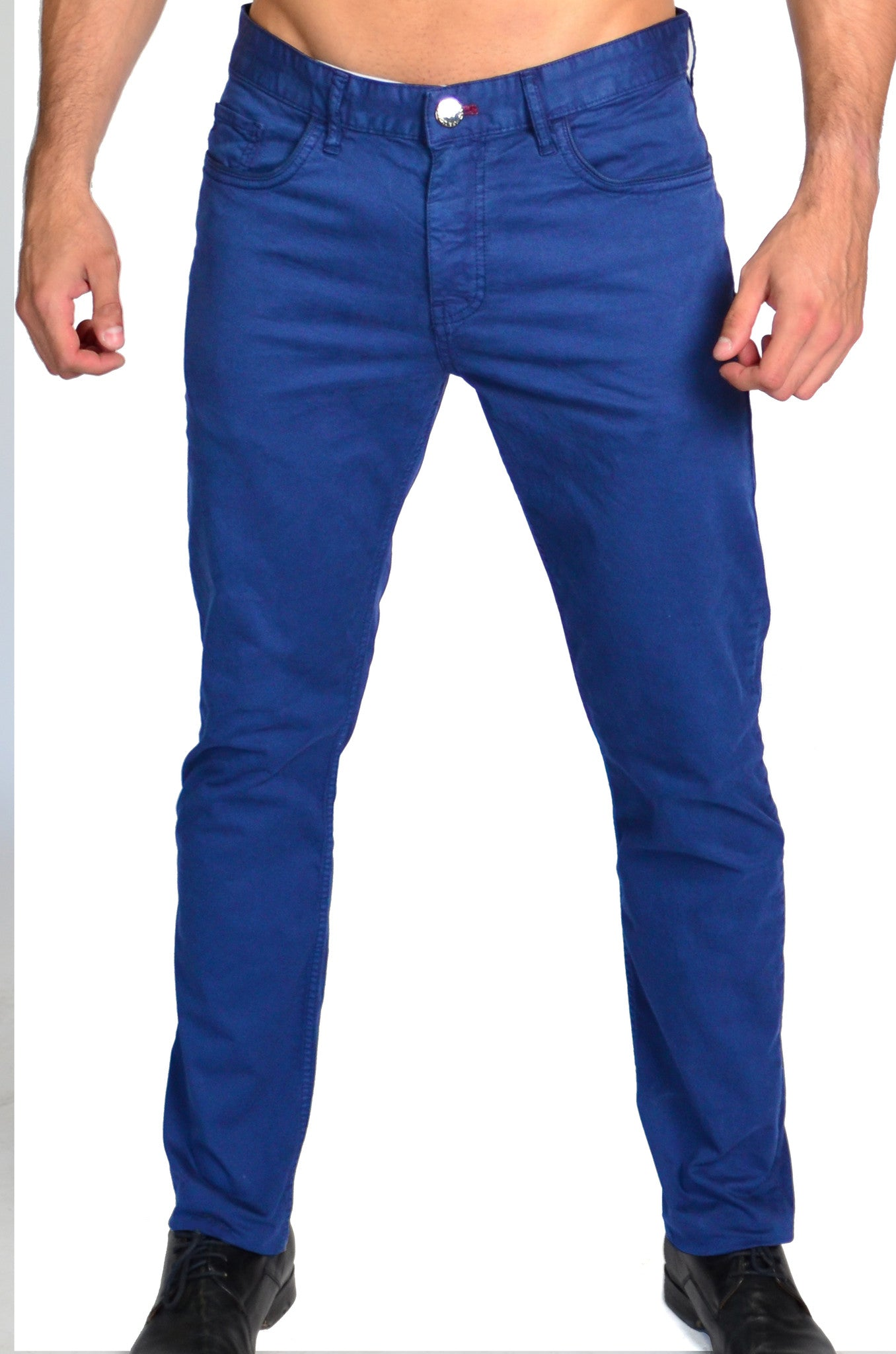 Cobalt Blue Denim Pants by Via Uomo - Slim