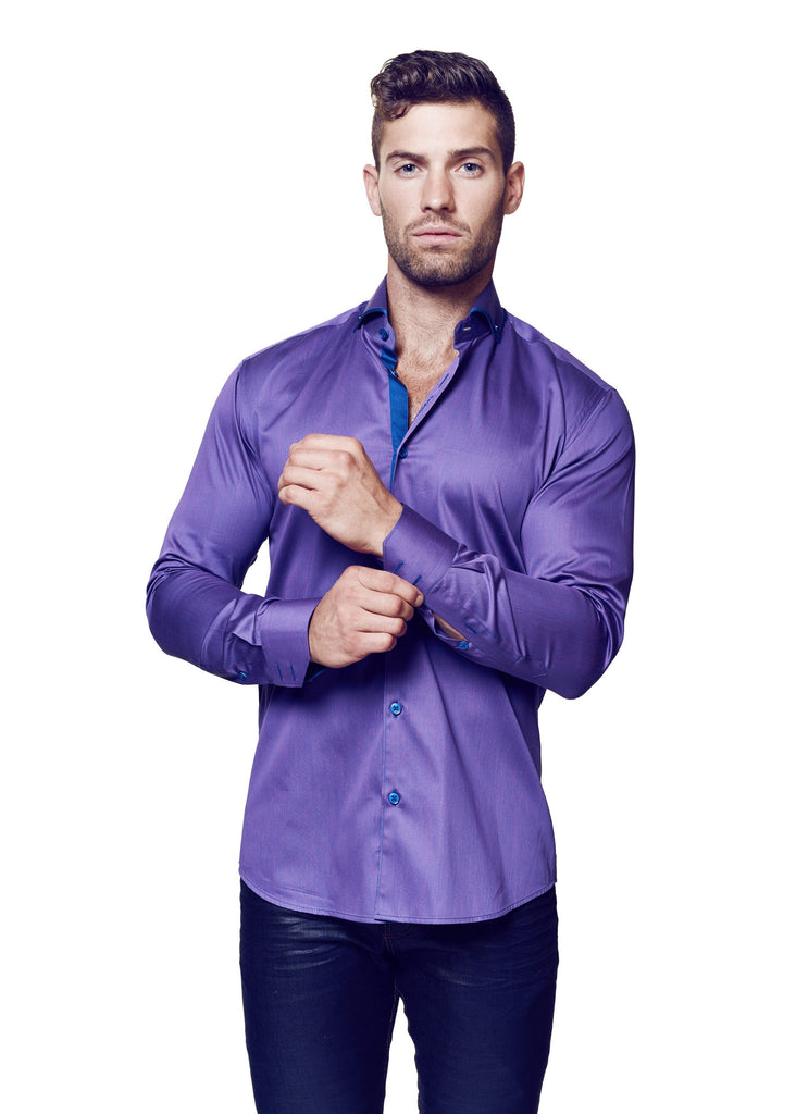 Elegance Purple Stripe - Slim  - 1