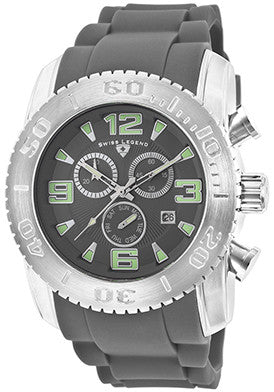 Commander Chronograph Grey Silicone - Slim
