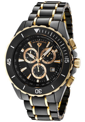 Men's Identity Black Ceramic Gold - Slim