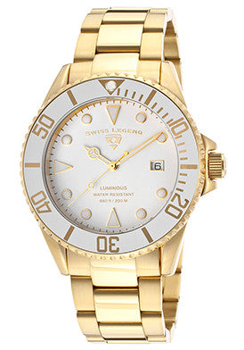 Luminous Gold Steel White Dial - Slim