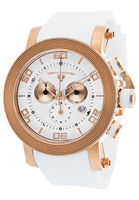Cyclone Chronograph White and Gold - Slim